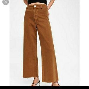 Last one Zar brown marine high waist wide leg Jean